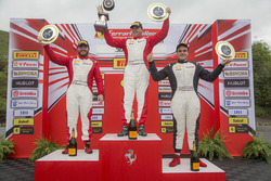 Trofeo Pirelli podium: winner Emmanuel Anassis, second place Carlos Kauffmann, third place Gregory R