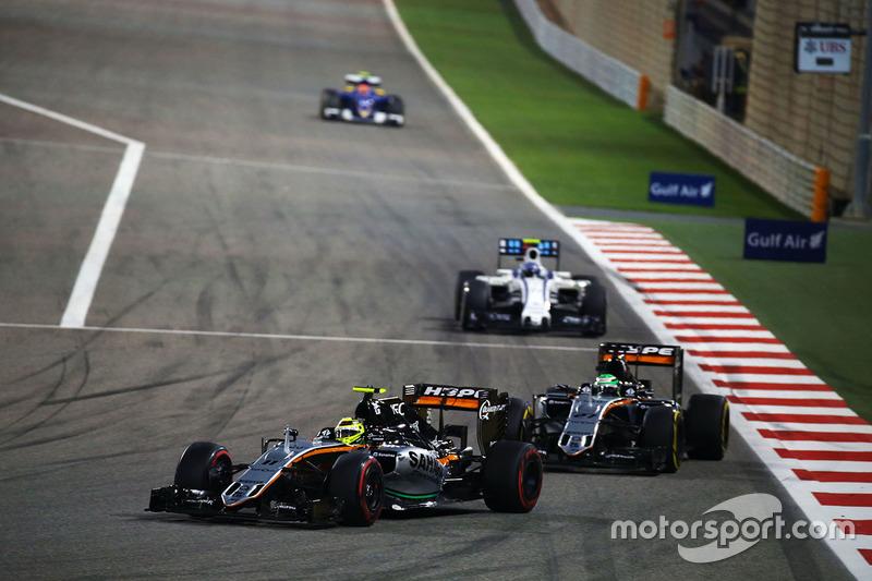 Sergio Perez, Sahara Force India F1 VJM09 and Nico Hulkenberg, Sahara Force India F1 VJM09