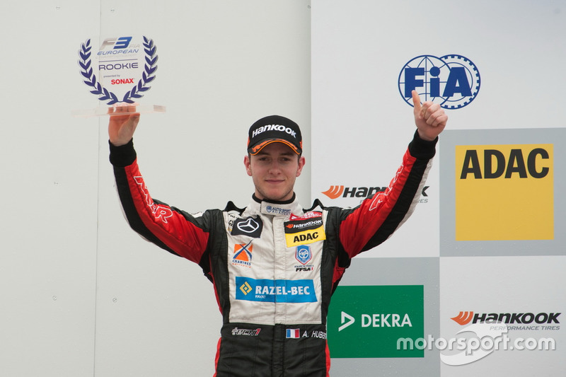 Podio esordienti: Anthoine Hubert, Van Amersfoort Racing Dallara F312 – Mercedes-Benz