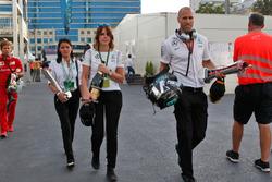 Daniel Schloesser, physio Mercedes AMG F1