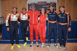 Conferenza Stampa: Luca Pedersoli, Anna Tomasi, Citroen C4 WRC, Tobia Cavallini, Sauro Farnocchia, Ford Fiesta WRC, Corrado Fontana, Nicola Arena, Bluthunder Racing Italy