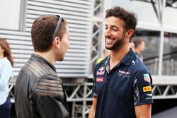 Jorge Lorenzo, pilote MotoGP, et Daniel Ricciardo, Red Bull Racing