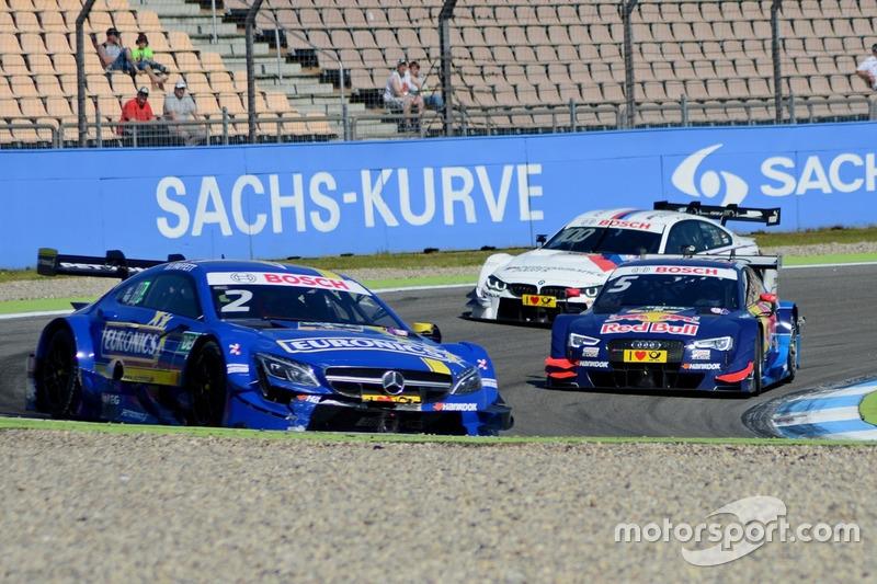 Гэри Паффет (Mercedes), Маттиас Экстрём (Audi) и Мартин Томчик (BMW)