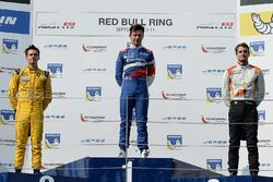 Podium: racewinnaar Matthieu Vaxivière, SMP Racing, tweede plaats Louis Deletraz, Fortec Motorsports