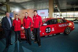 Richard Emery, Nissan Australia CEO, Rick Kelly, Nissan Motorsport, Michael Caruso, Nissan Motorspor