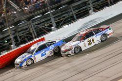 Brad Keselowski, Team Penske Ford, Ryan Blaney, Wood Brothers Racing Ford