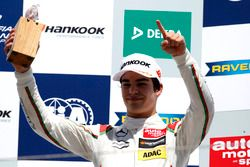 Podium : le vainqueur Lance Stroll, Prema Powerteam Dallara F312 – Mercedes-Benz