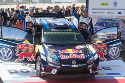 Le 2e Andreas Mikkelsen, Anders Jæger, Volkswagen Polo WRC, Volkswagen Motorsport