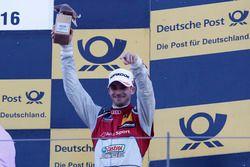 Podium: derde plaats Edoardo Mortara, Audi Sport Team Abt Sportsline, Audi RS 5 DTM