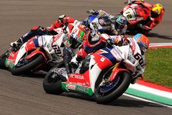 Michael van der Mark, Honda WSBK Team et Nicky Hayden, Honda WSBK Team