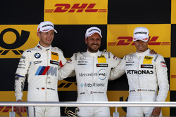 Podium: Race winner Gary Paffett Mercedes-AMG Team HWA, second place Marco Wittmann, BMW Team RMG, third place Pascal Wehrlein, Mercedes-AMG Team HWA