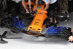 Morro y detalle delantero del McLaren MCL33
