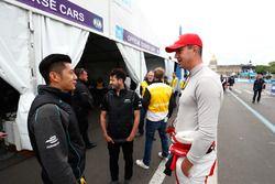 Ho-Pin Tung, Panasonic Jaguar Racing, meets Kevin Pietersen, former English cricketer