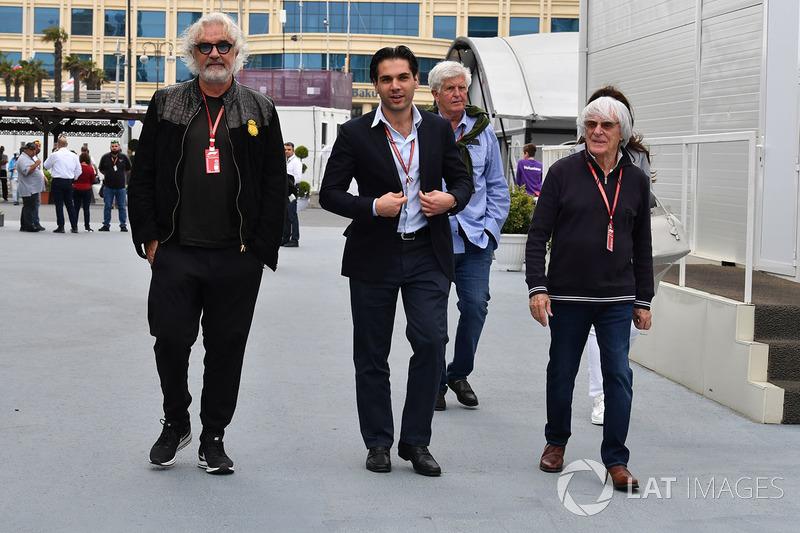 Flavio Briatore, Arif Rahimov, Promotore del Baku Street Circuit e Bernie Ecclestone