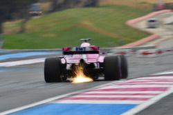 Sergio Perez, Force India VJM11 lâche des étincelles