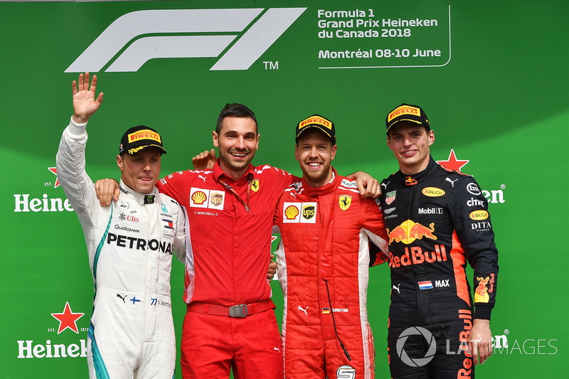 Bottas ficou em segundo e Verstappen fechou o pódio