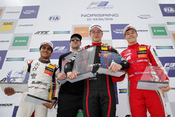Podium: Race winner Jüri Vips, Motopark Dallara F317 - Volkswagen, second place Enaam Ahmed, Hitech Bullfrog GP Dallara F317 - Mercedes-Benz, third place Marcus Armstrong, PREMA Theodore Racing Dallara F317 - Mercedes-Benz
