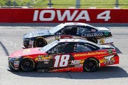 Riley Herbst, Joe Gibbs Racing, Toyota Camry Advance Auto Parts and Shane Lee, Richard Childress Racing, Chevrolet Camaro