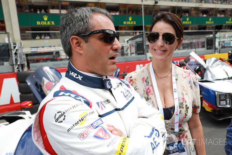 Juan Pablo Montoya, United Autosports, with wife Connie
