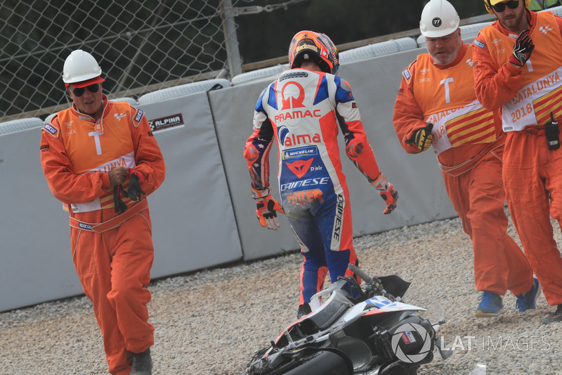 Jack Miller, Pramac Racing después de la caída