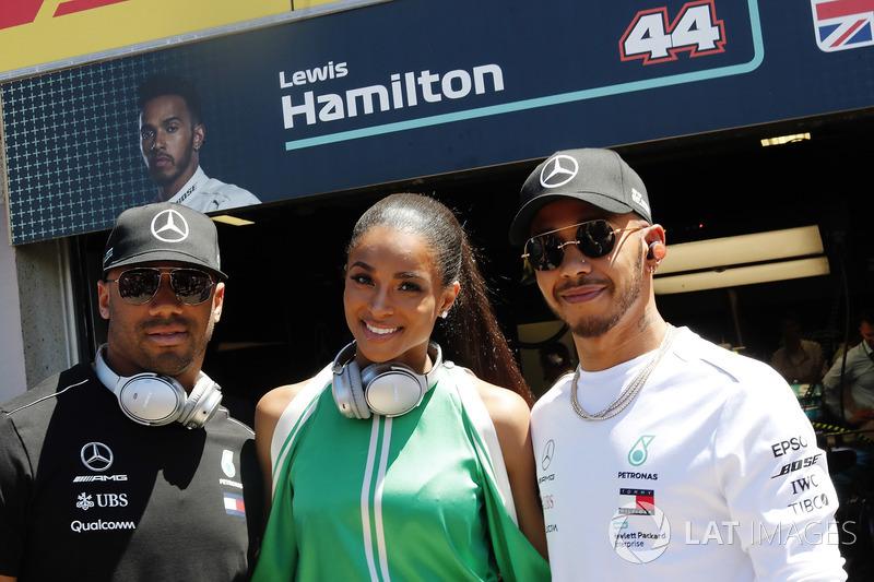 Расселл Вілсон, Ciara та Льюіс Хемілтон, Mercedes AMG F1