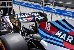 Williams FW41 detalle del ala trasera