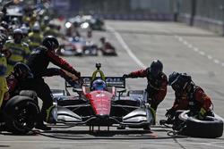 Robert Wickens, Schmidt Peterson Motorsports Honda au stand