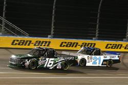Ryan Truex, Hattori Racing Enterprises Toyota, Johnny Sauter, GMS Racing Chevrolet