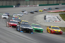 Jamie McMurray, Chip Ganassi Racing, Chevrolet Camaro Arctic Cat, Chris Buescher, JTG Daugherty Racing, Chevrolet Camaro Gain, Joey Logano, Team Penske, Ford Fusion Shell Pennzoil, and Austin Dillon, Richard Childress Racing, Chevrolet Camaro AAA