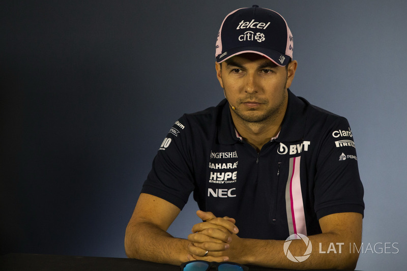 Sergio Perez, Force India en la conferencia de prensa