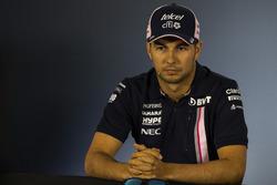 Sergio Perez, Force India in the Press Conference