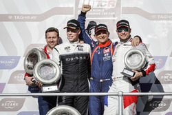 Podium: Race winner Gabriele Tarquini, BRC Racing Team Hyundai i30 N TCR, second place Thed Björk, YMR Hyundai i30 N TCR, third place Rob Huff, Sébastien Loeb Racing Volkswagen Golf GTI TCR