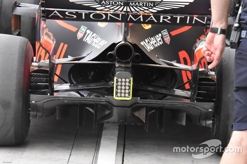Detail diffuser Red Bull Racing RB14