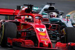 Race winner Sebastian Vettel, Ferrari SF71H celebrates