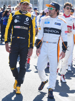 Fernando Alonso, McLaren and Carlos Sainz Jr., Renault Sport F1 Team