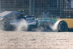 Valtteri Bottas, Mercedes AMG F1 W09, runs off the track