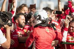 Sebastian Vettel, Ferrari, y el equipo Ferrari