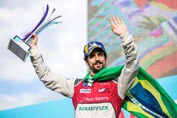 Lucas di Grassi, Audi Sport ABT Schaeffler, on the podium