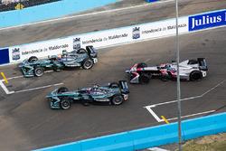 Nelson Piquet Jr., Jaguar Racing, Mitch Evans, Jaguar Racing ed Edoardo Mortara, Venturi Formula E Team