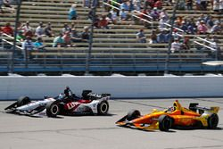 Graham Rahal, Rahal Letterman Lanigan Racing Honda, Zach Veach, Andretti Autosport Honda