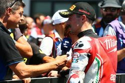 Tercer lugar Eugene Laverty, Milwaukee Aprilia