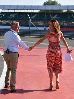Johnny Herbert, Sky TV and Natalie Pinkham, Sky TV