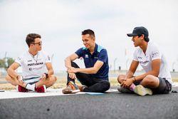 Attività con i Media. Nyck De Vries, PREMA Racing, Alexander Albon, DAMS, Sean Gelael, PREMA Racing