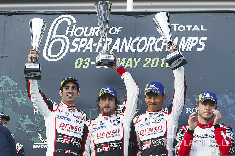 ¡Con victoria! Fernando Alonso se estrenaba a lo grande en el WEC ganando junto a Sébastien Buemi y Kazuki Nakajima las 6 Horas de Spa-Francorchamps