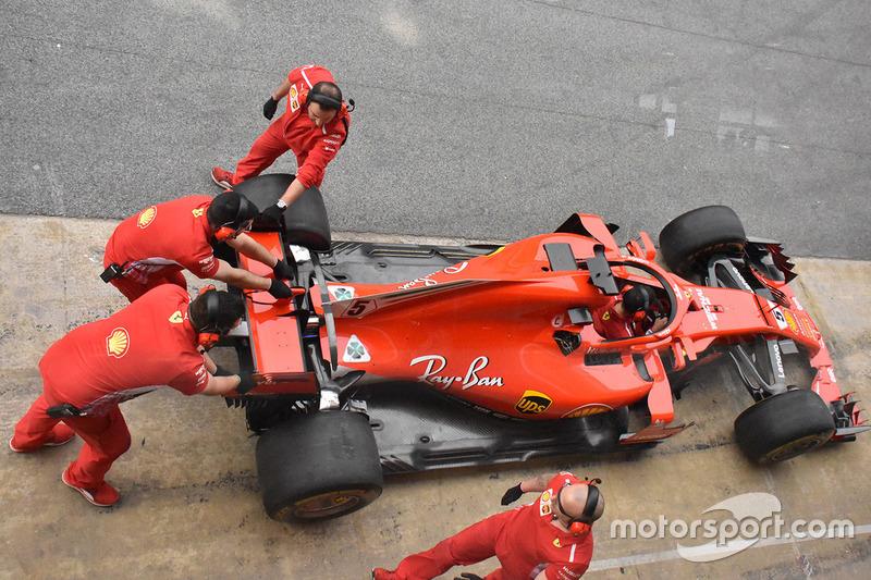 Ferrari SF71H di Sebastian Vettel