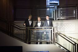 WEC Champions Brendon Hartley, Timo Bernhard and Earl Bamber arrive