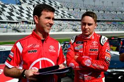 Christopher Bell, Joe Gibbs Racing, Rheem Toyota Camry and Jason Ratcliff
