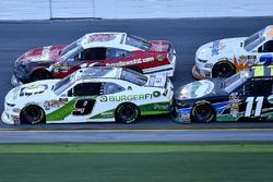 Tyler Reddick, JR Motorsports, BurgerFi Chevrolet Camaro, Ryan Reed, Roush Fenway Racing, Drive Down A1C Lilly Diabetes Ford Mustang