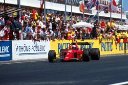 Il vincitore della gara Alain Prost, Ferrari 641