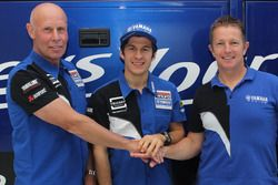 Louis Vosters, Wilvo Yamaha Official MXGP Team Owner; Jeremy Seewer and Erik Eggens, Yamaha Motor Eu